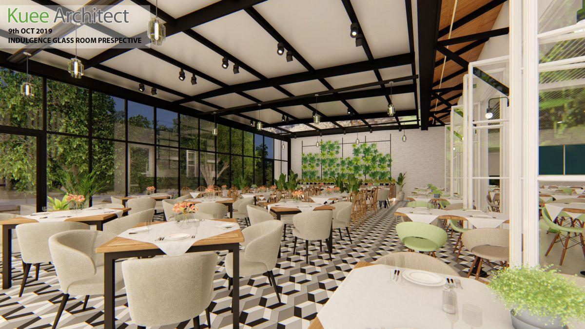 Indulgence glassroom interior design Ipoh by Kuee Architect