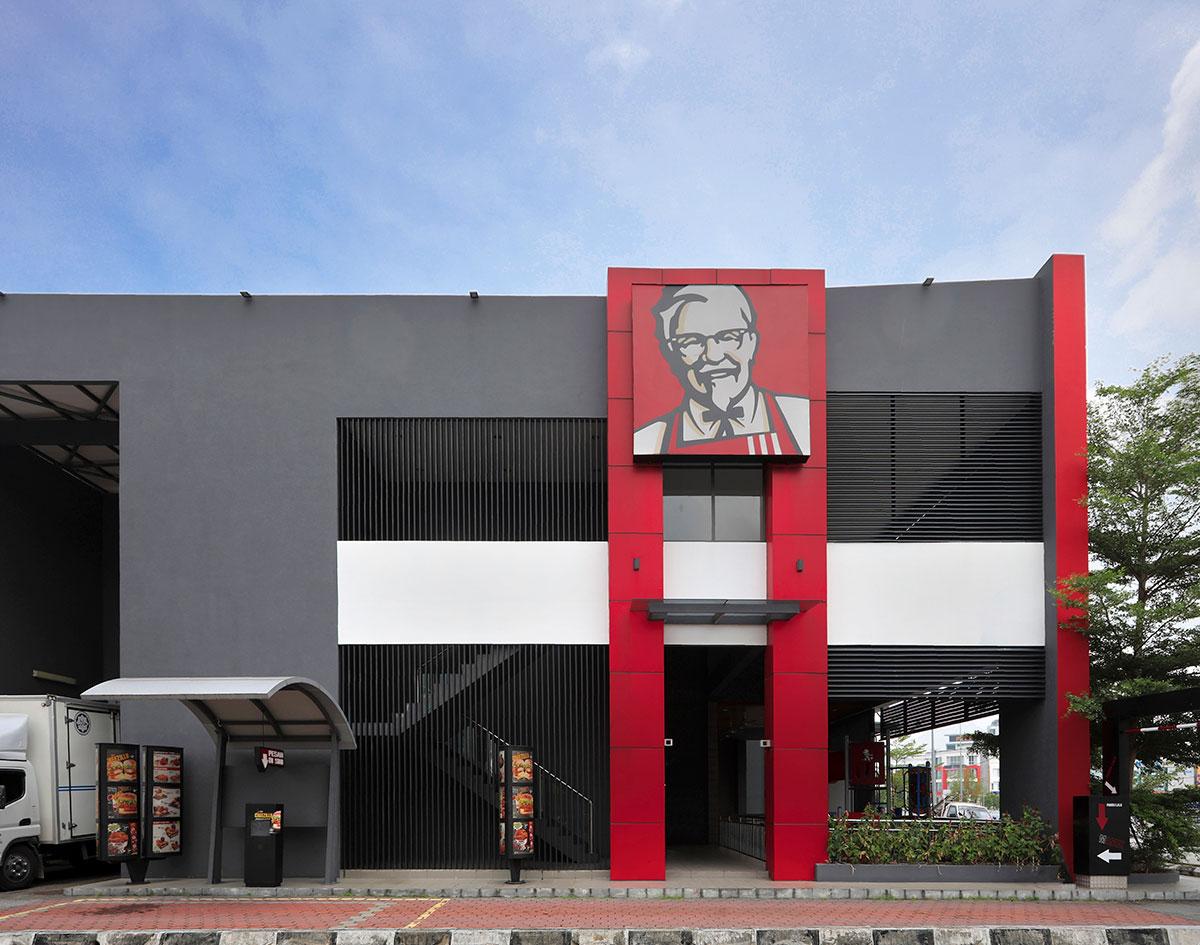 KFC Meru Raya Exterior and interior Design