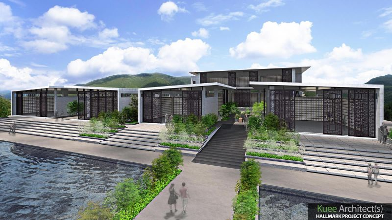Modern Columbarium memorial architecture design in Malaysia