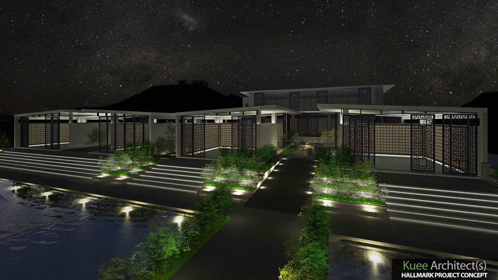 3D Simulation for night scene