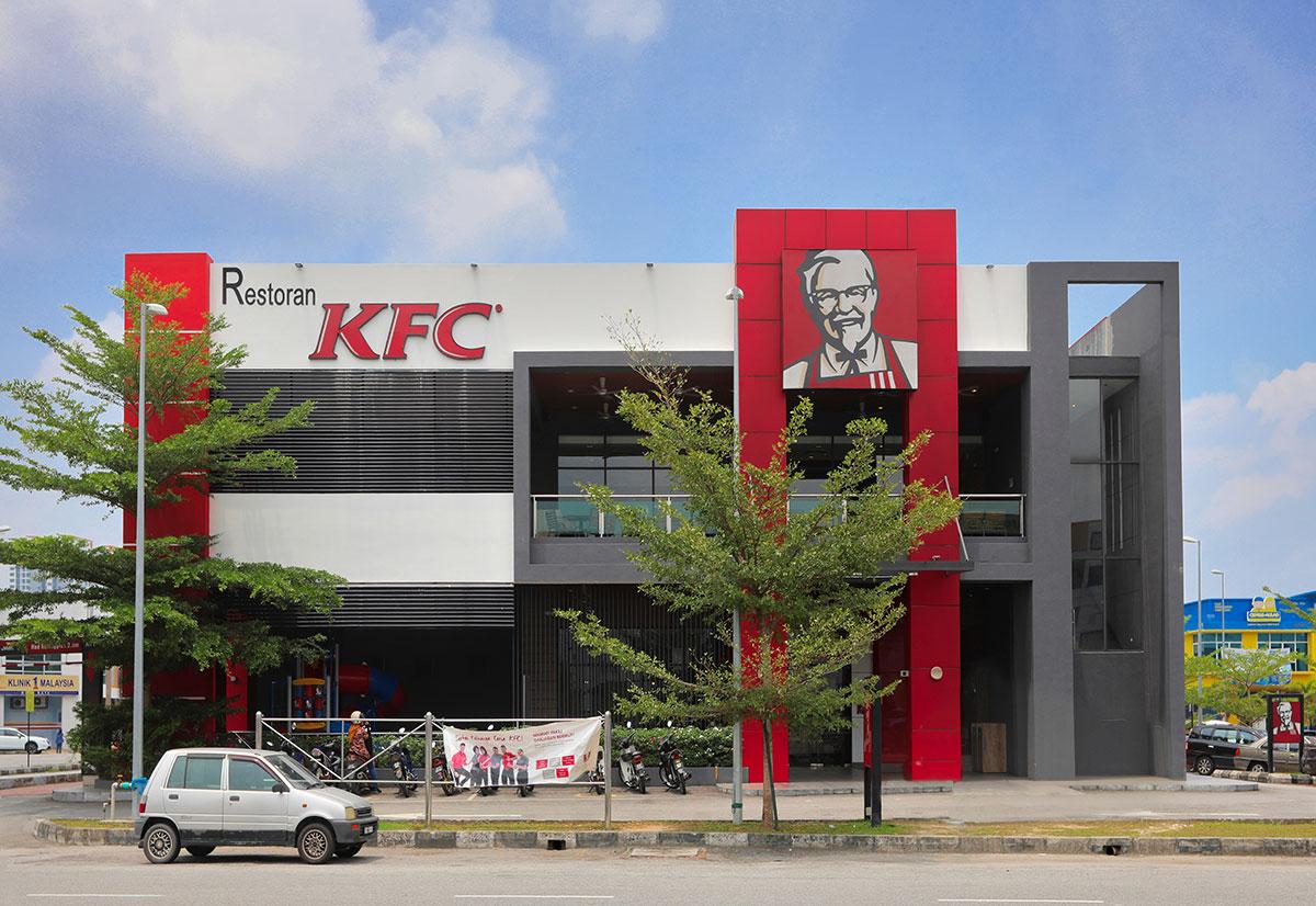Modern KFC fast food restaurant design