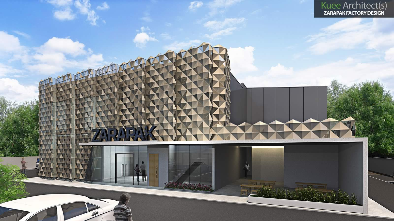 Zarapak Factory Architecture Design by Kuee Architect