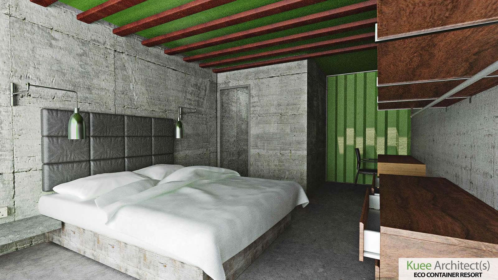 container interior design Kuee architect