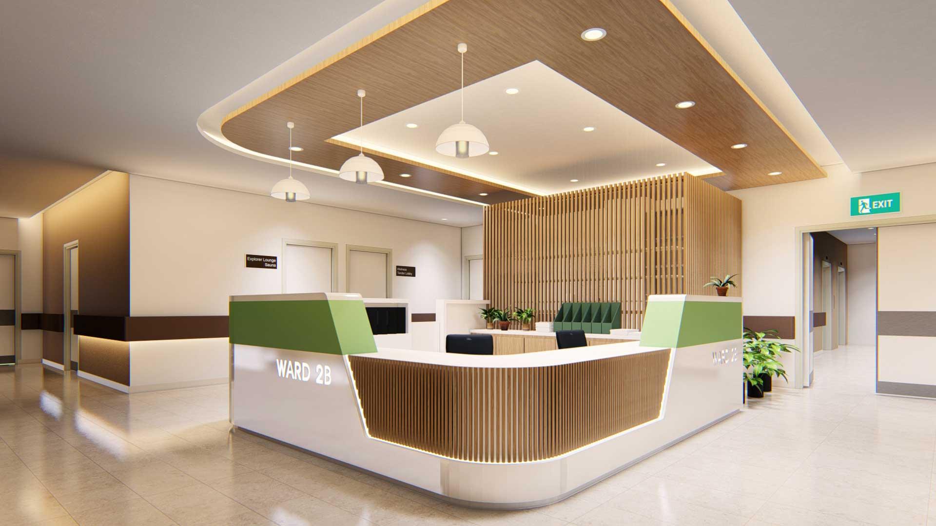 Pantai Hospital Ipoh Lobby Design