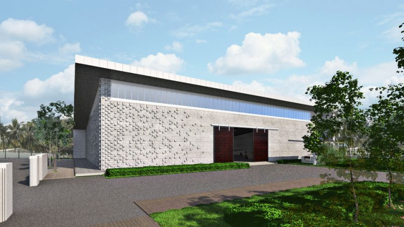 modern Garage exterior design