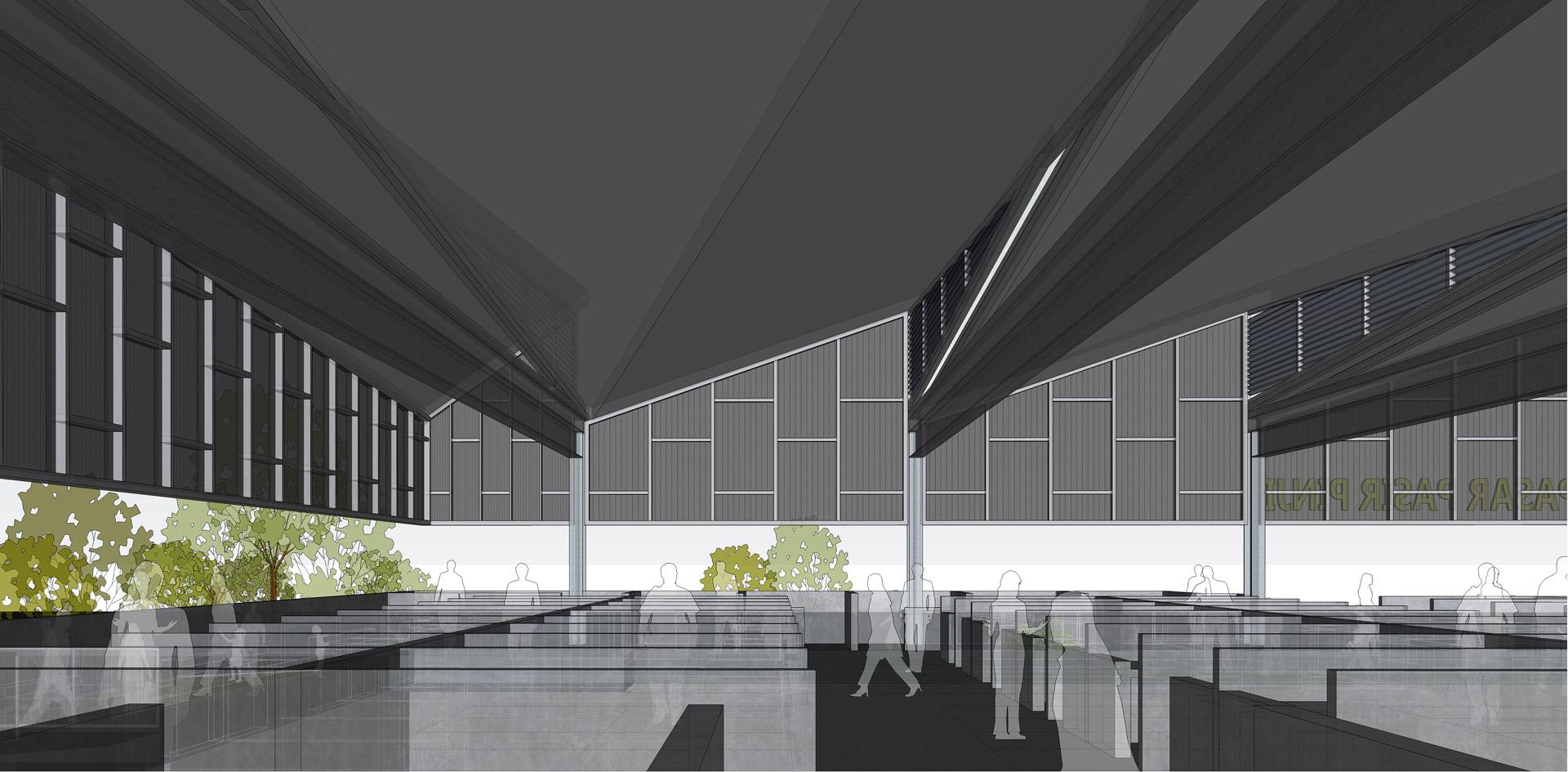 Modern wet market interior design